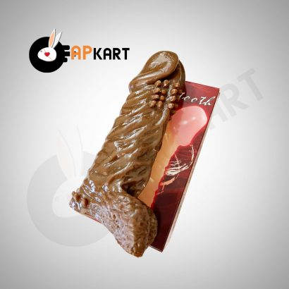 Silicone Thick Chocolate Penis Sleeve Male Sex Toy - Adults Product Kart