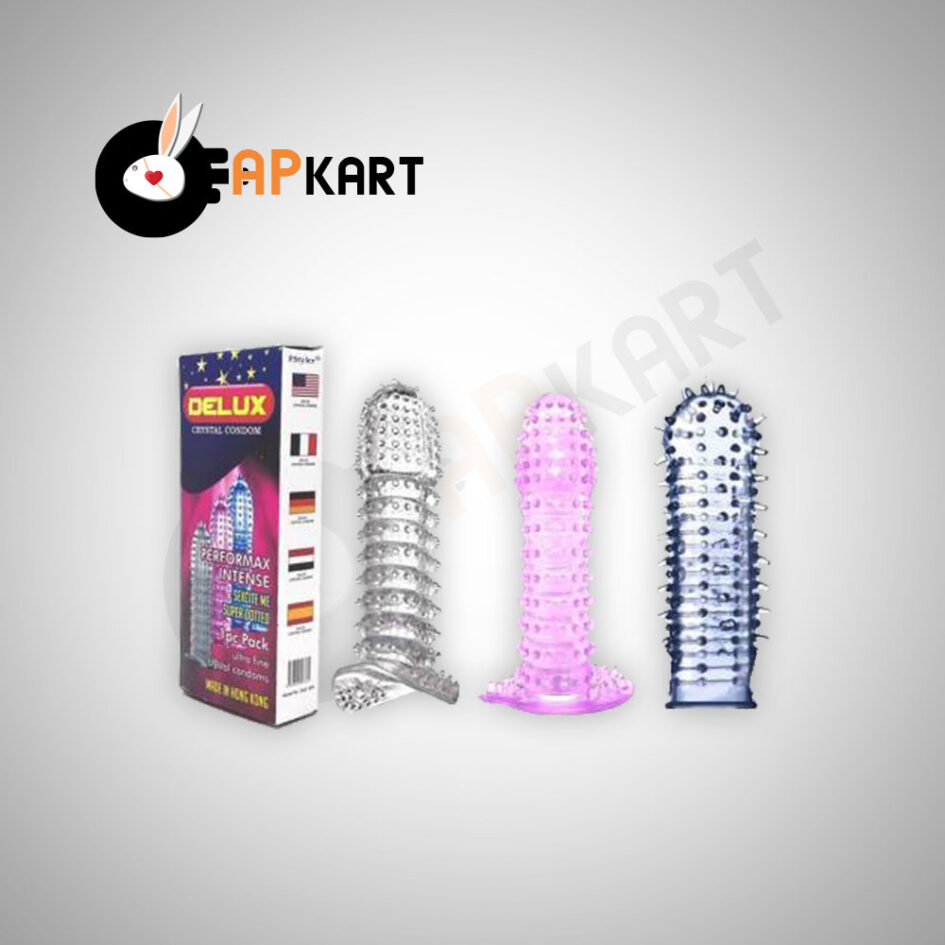 Delux Crystal Condom Mens Sex Toy - Adults Product Kart 2