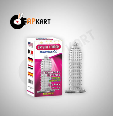 Crystal Silicone Dotted Ribbed Clear Reusable Condom Penis Sleeve Adult Sexy Toy - Adults Product Kart