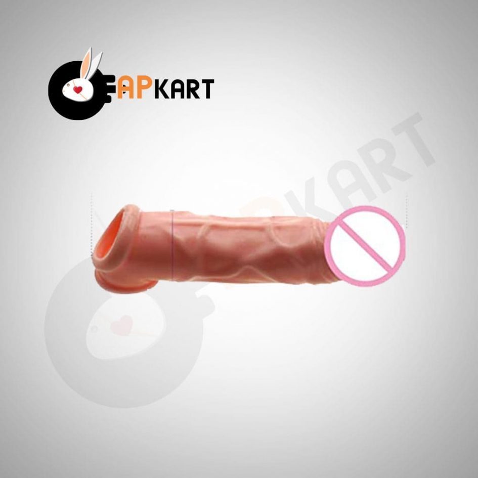 Realistic Penis Sleeve Extender Prolong Ejaculation Lasting Ring - Adults Product Kart